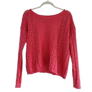2/$40* Aeropostale Coral Open Knit Sweater